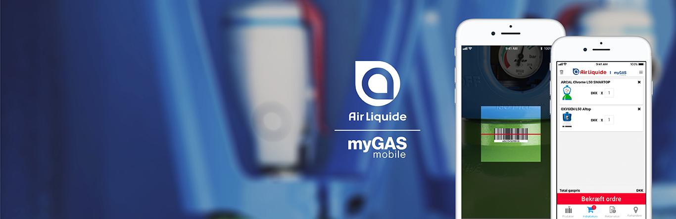 myGAS mobilapp -  bestil gas når & hvor du vil | myGAS | Air Liquide